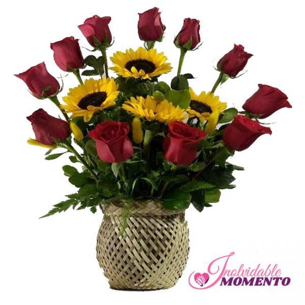 Comprar Regalo 11 Rosas 4 Girasoles