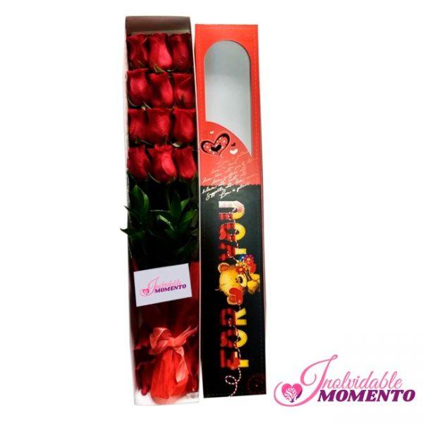 Comprar Regalo 12 Rosas En Caja