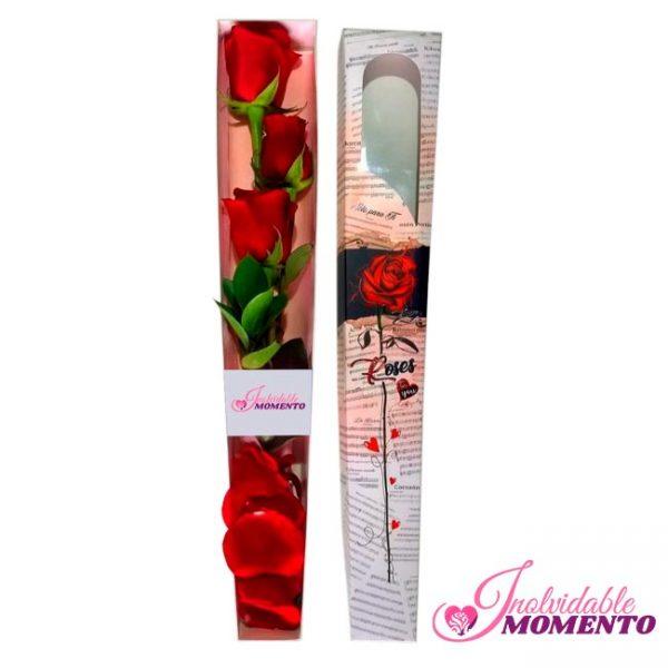 Comprar Regalo 3 Rosas En Caja