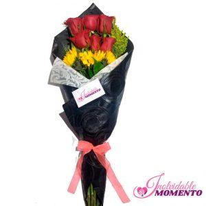 Comprar Ramo 6 Rosas y 3 Girasoles