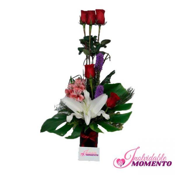 Comprar Regalo 7 Rosas 1Lirio 2 Liatriz