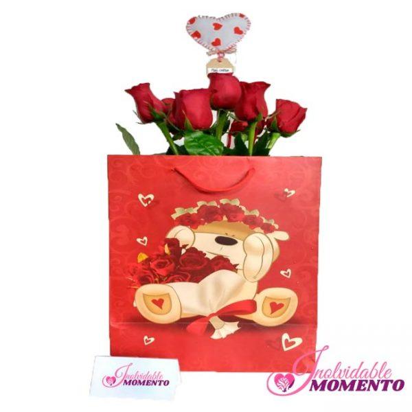 Comprar Regalo 7 Rosas y Corazón